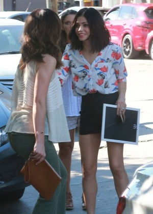 Minka Kelly & Mandy Moore at a party in West Hollywood