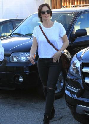 Minka Kelly in Ripped Jeans -12