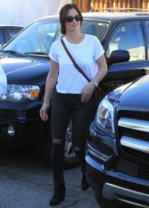 Minka Kelly in Ripped Jeans -16