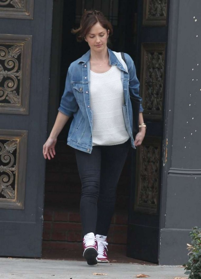 Minka Kelly in Tight Jeans out in West Hollywood