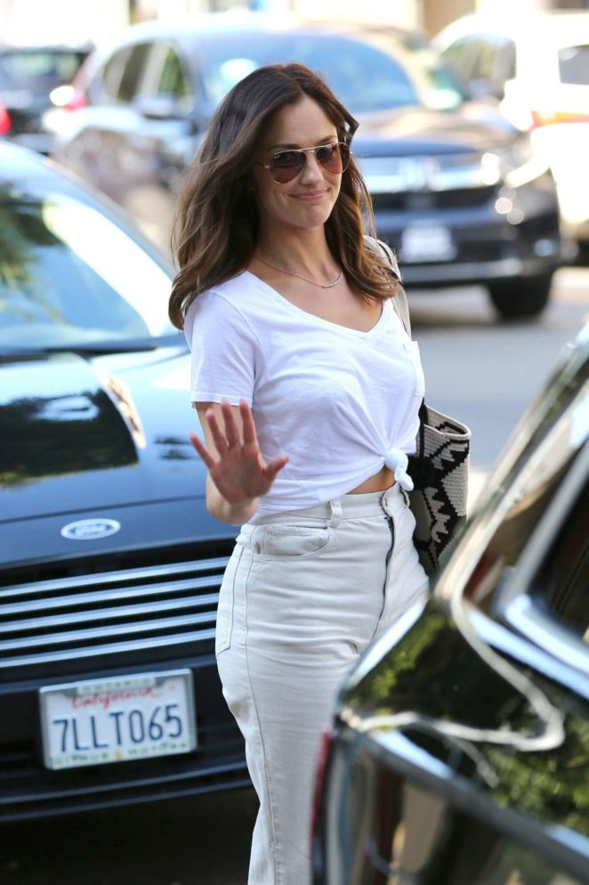 Minka Kelly - Seen at Cedars-Sinai Medical Center in Los Angeles