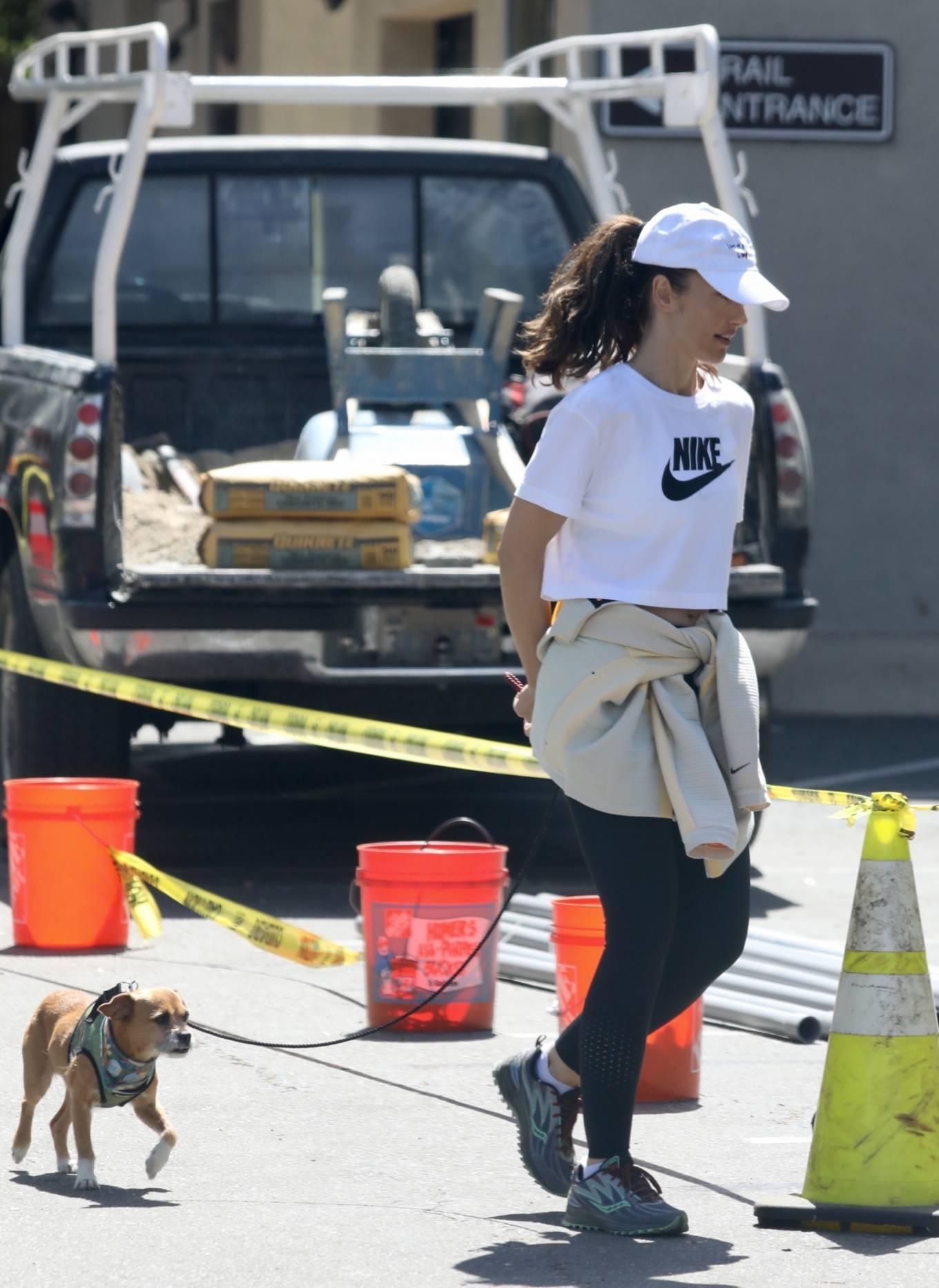 Minka Kelly 2021 : Minka Kelly – Seen wiith her dog on Mulholland Drive in Los Angeles-08