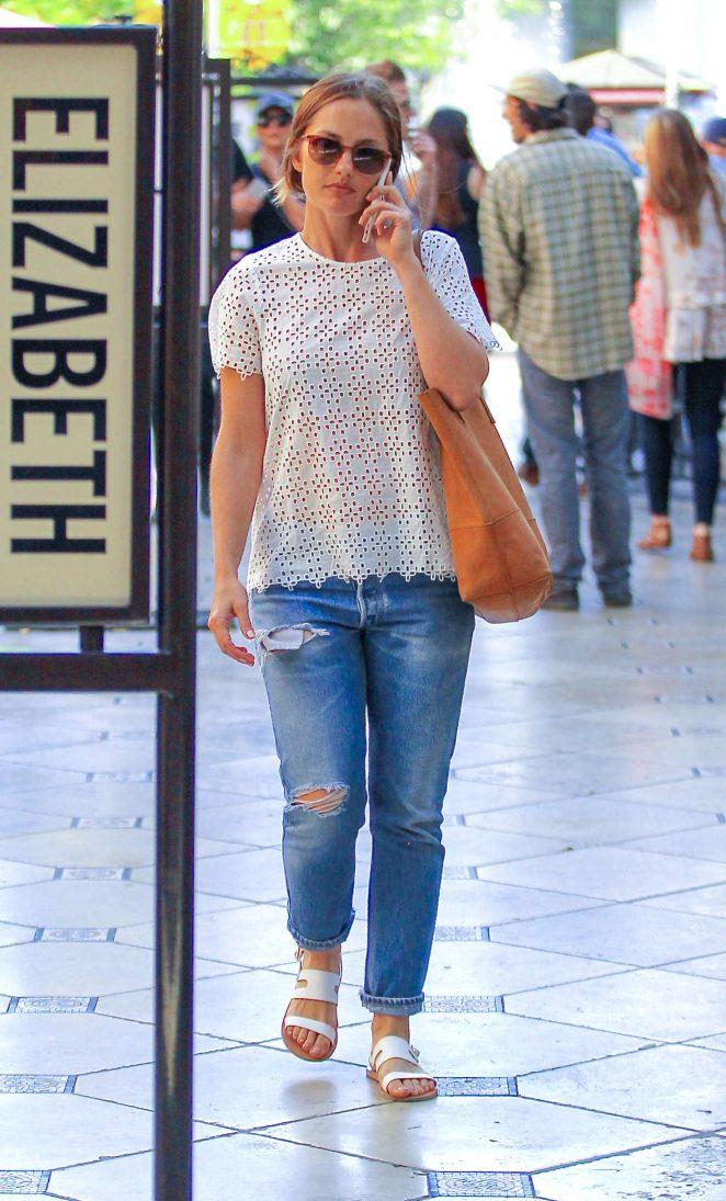 Minka Kelly Shopping at the Grove in Los Angeles