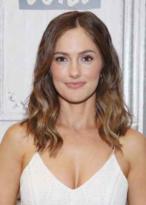 Minka Kelly - Visits AOL Build Studio in NYC