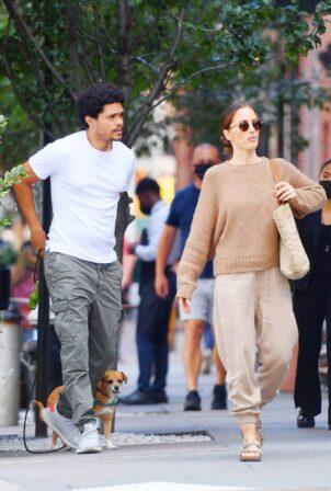 Minka Kelly - With boyfriend Trevor Noah in New York