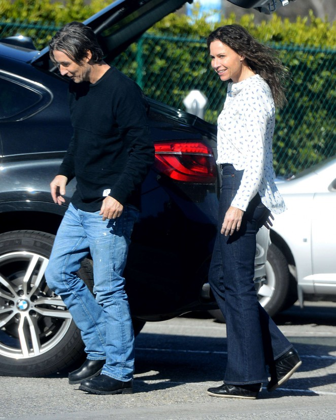 Minnie Driver and Neville Wakefield out in Beverly Hills
