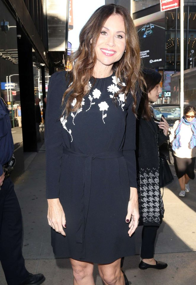 Minnie Driver Arrives at 'Good Morning America' in New York City
