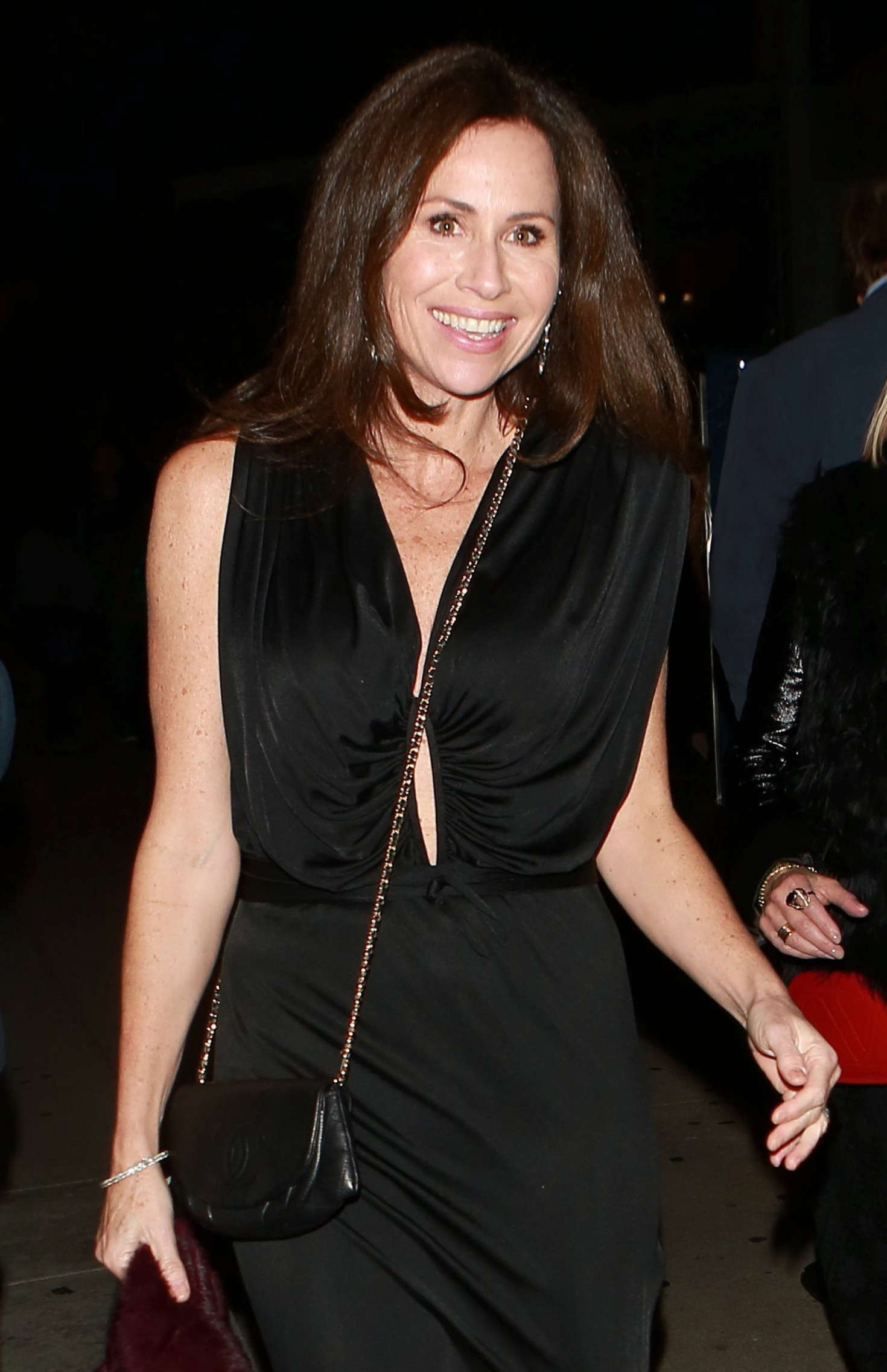 Minnie Driver at Boa Steakhouse in West Hollywood