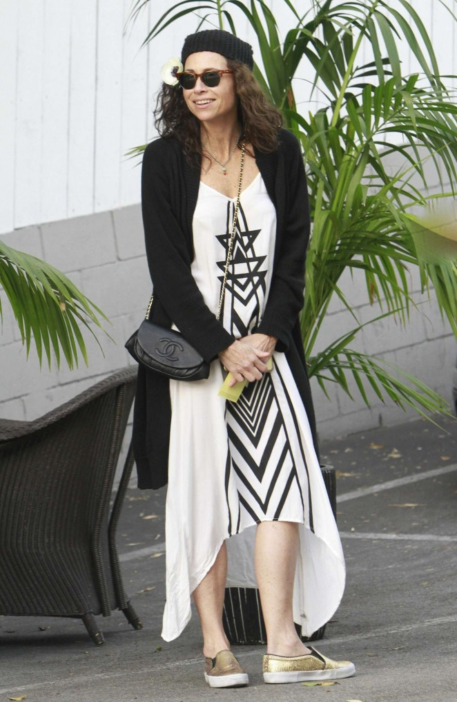 Minnie Driver in Long Dress out in LA