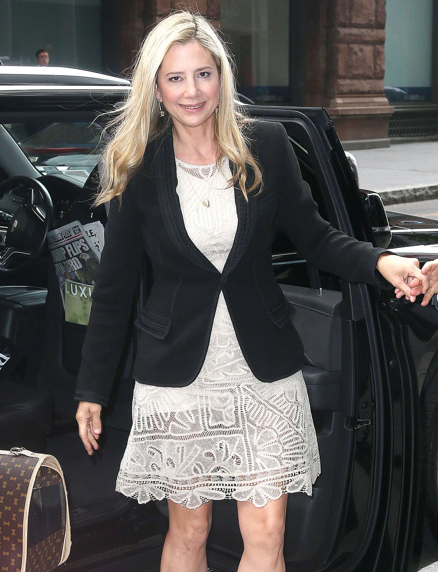 Mira Sorvino - Arrives at the AOL BUILD series in NYC