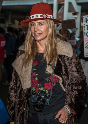 Mira Sorvino at LAX Airport in LA