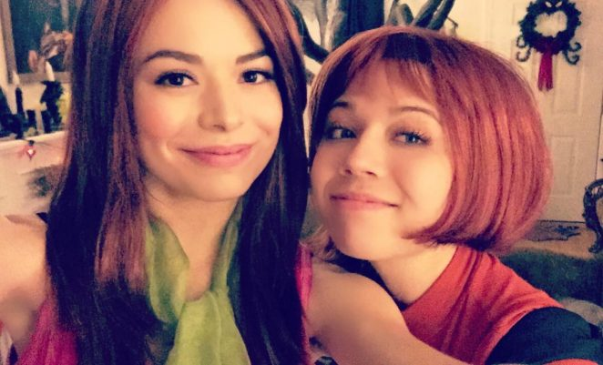 Miranda Cosgrove and Jennette McCurdy at Halloween Party 2016