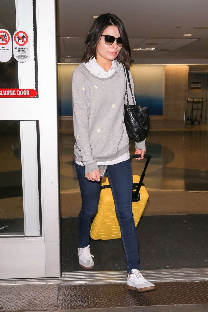 Miranda Cosgrove at Los Angeles International Airport in LA