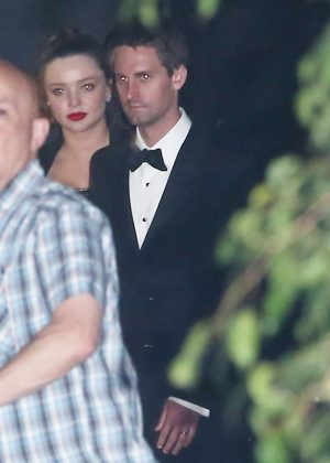 Miranda Kerr and Evan Spiegel - Leaving Gwyneth Paltrow Black Tie Event in LA