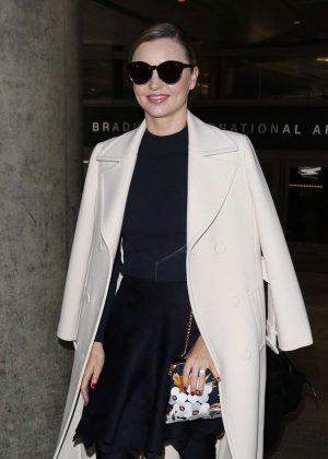 Miranda Kerr Arrives at LAX Airport in Los Angeles