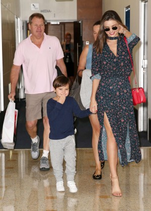 Miranda Kerr - Arrives at Sydney Airport