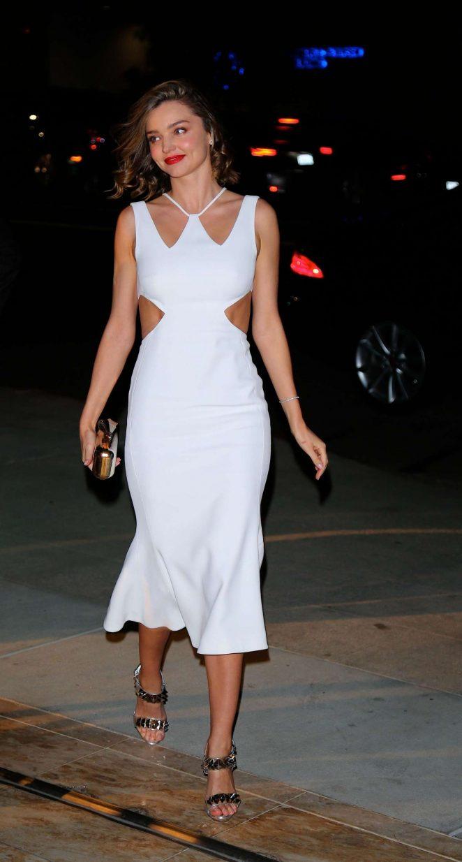 Miranda Kerr - Arrives at the Jaguar unveiling event in Los Angeles