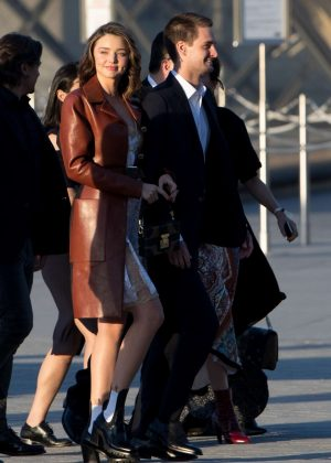 Miranda Kerr - Arrives at the Louis Vuitton dinner party in Paris