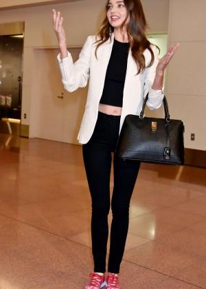 Miranda Kerr at Haneda International Airport in Tokyo