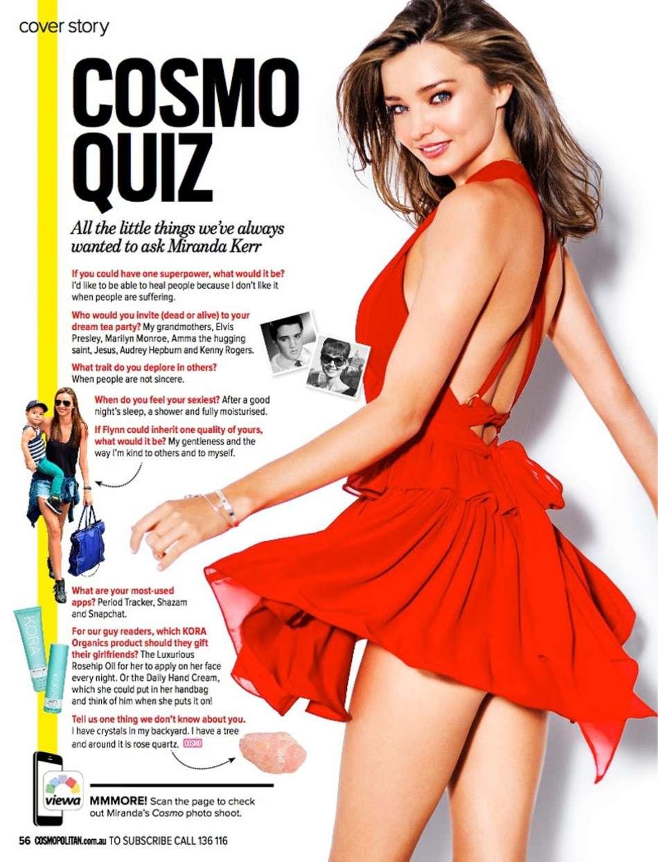 Miranda Kerr - Cosmopolitan Australia Magazine (October 2015)