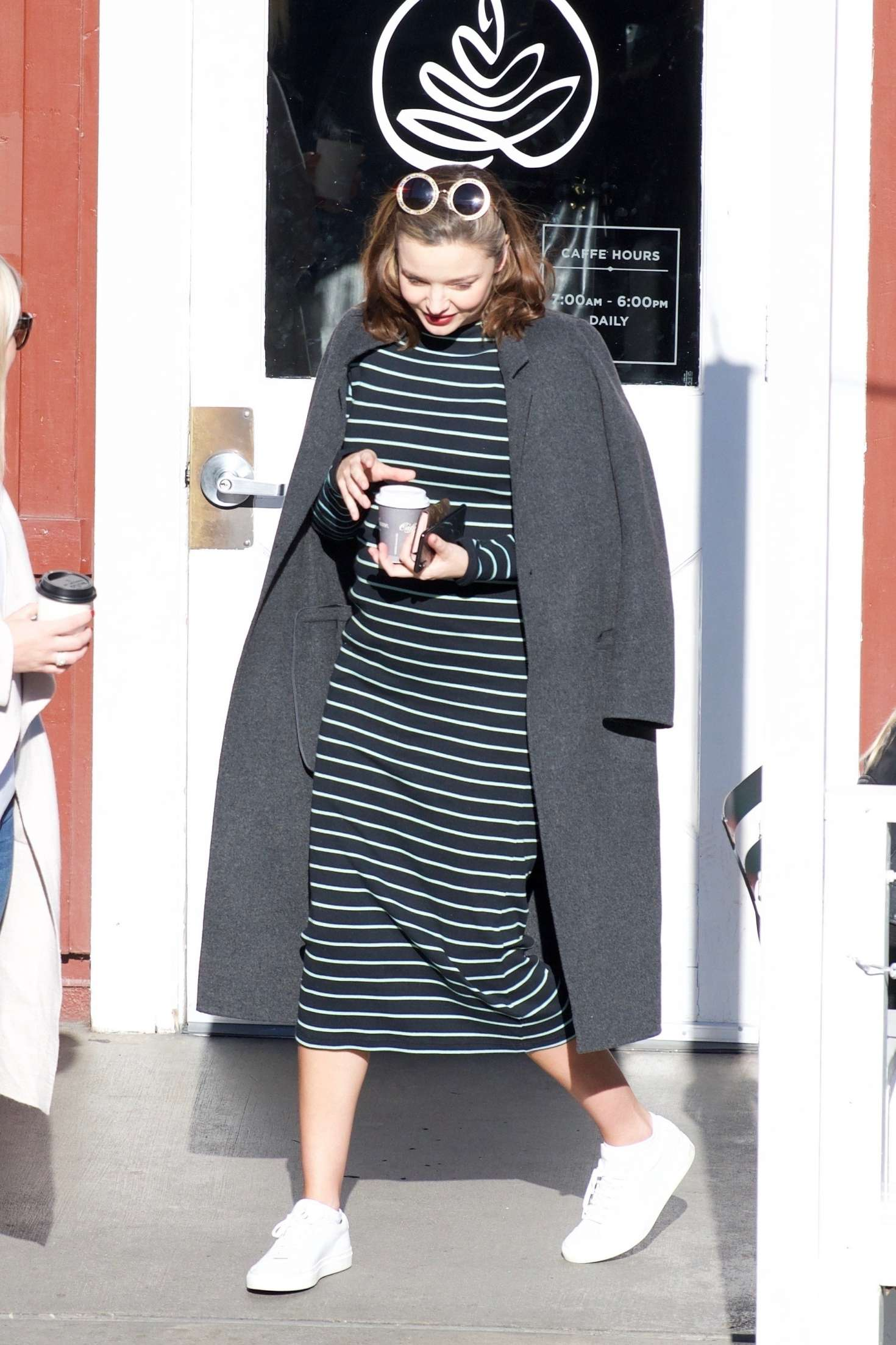 Miranda Kerr 2018 : Miranda Kerr: Grabs coffee with a friend in Brentwood -01