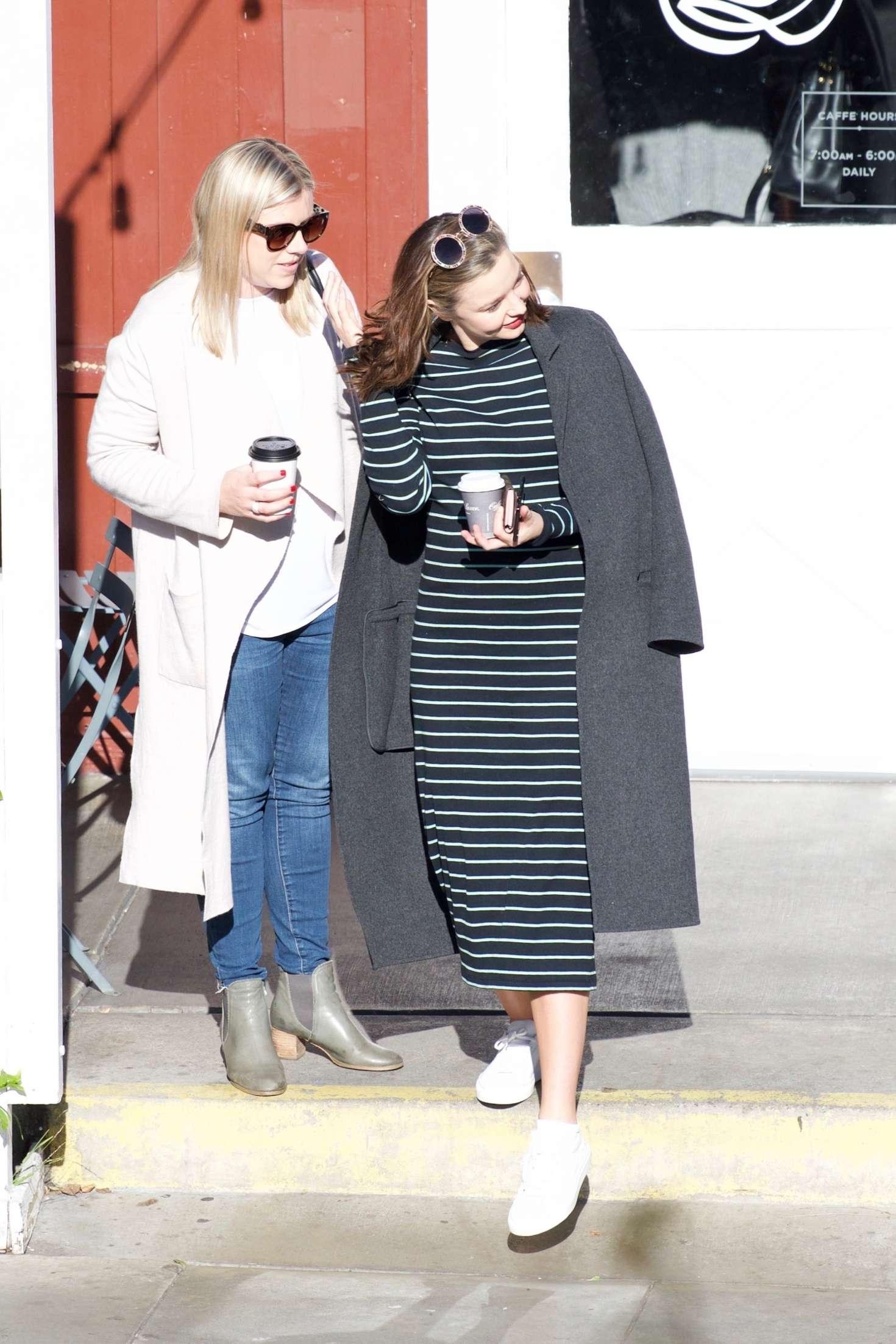 Miranda Kerr 2018 : Miranda Kerr: Grabs coffee with a friend in Brentwood -04