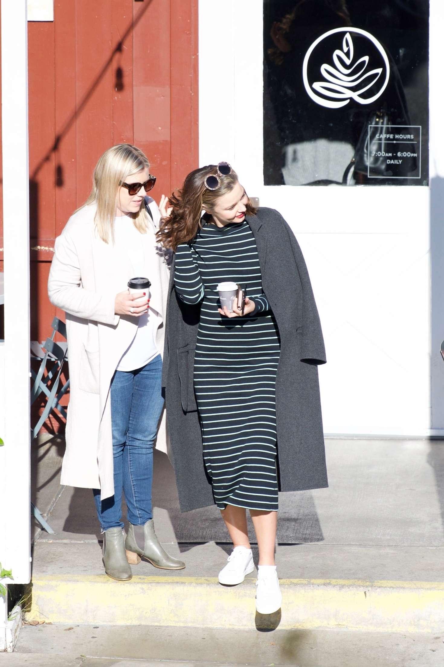 Miranda Kerr 2018 : Miranda Kerr: Grabs coffee with a friend in Brentwood -07
