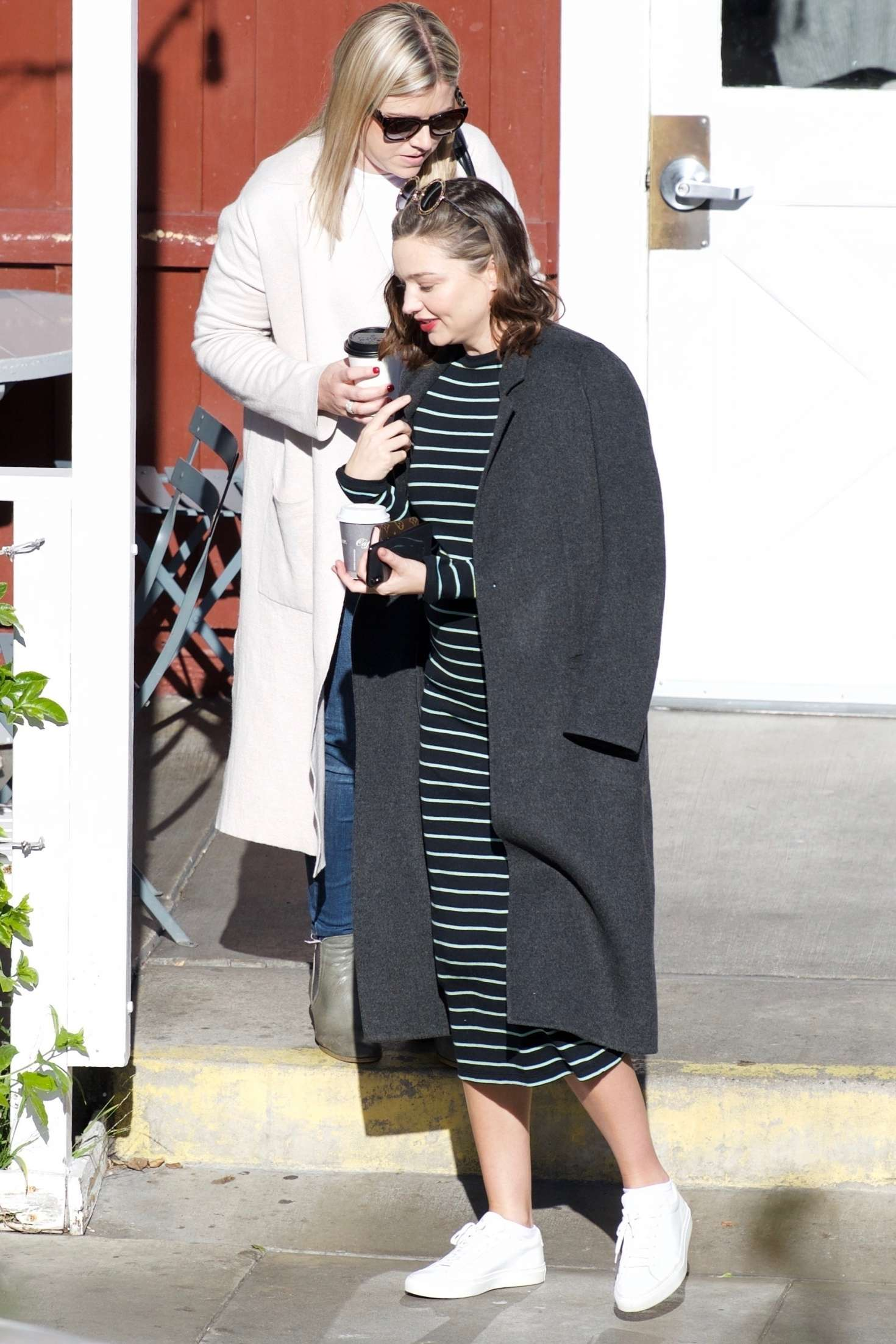 Miranda Kerr 2018 : Miranda Kerr: Grabs coffee with a friend in Brentwood -09