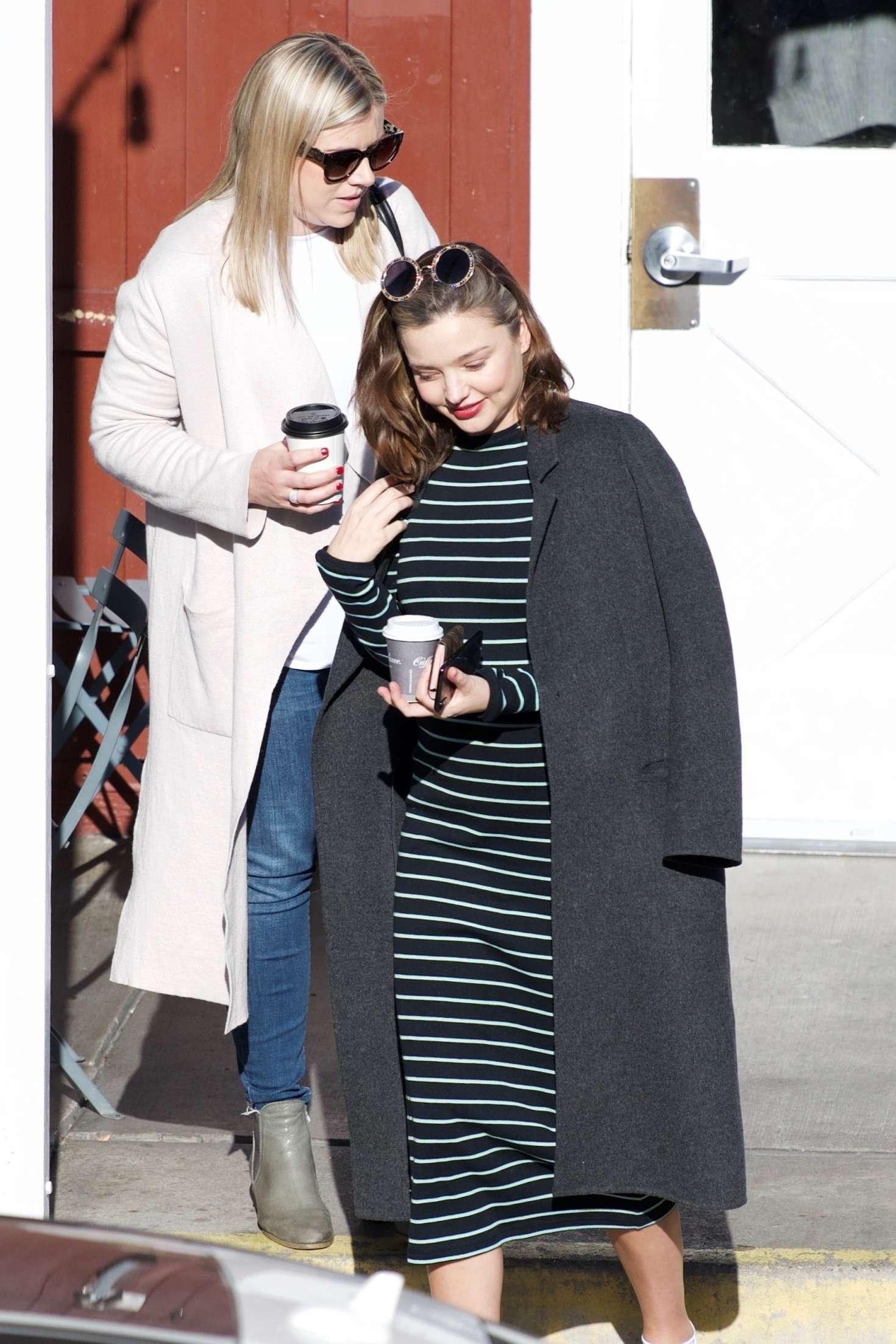 Miranda Kerr 2018 : Miranda Kerr: Grabs coffee with a friend in Brentwood -20