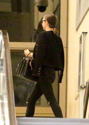 Miranda Kerr in Black Jeans at LAX Airport in LA
