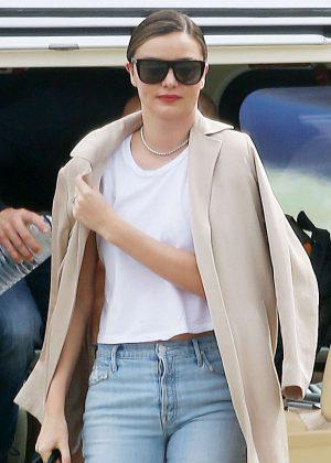 Miranda Kerr in Jeans arriving to Sydney
