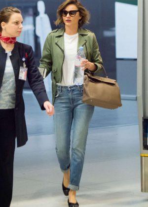Miranda Kerr in Jeans at JFK Airport in New York