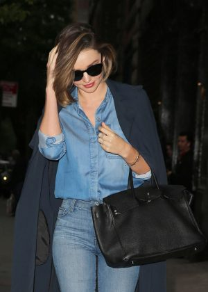 Miranda Kerr in Jeans out in New York