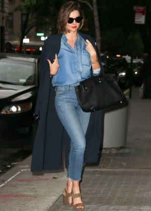 Miranda Kerr in Jeans Out in New York