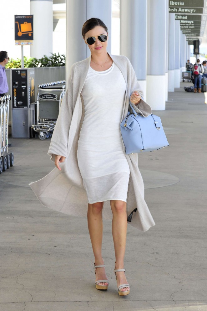 Miranda Kerr - LAX airport in LA