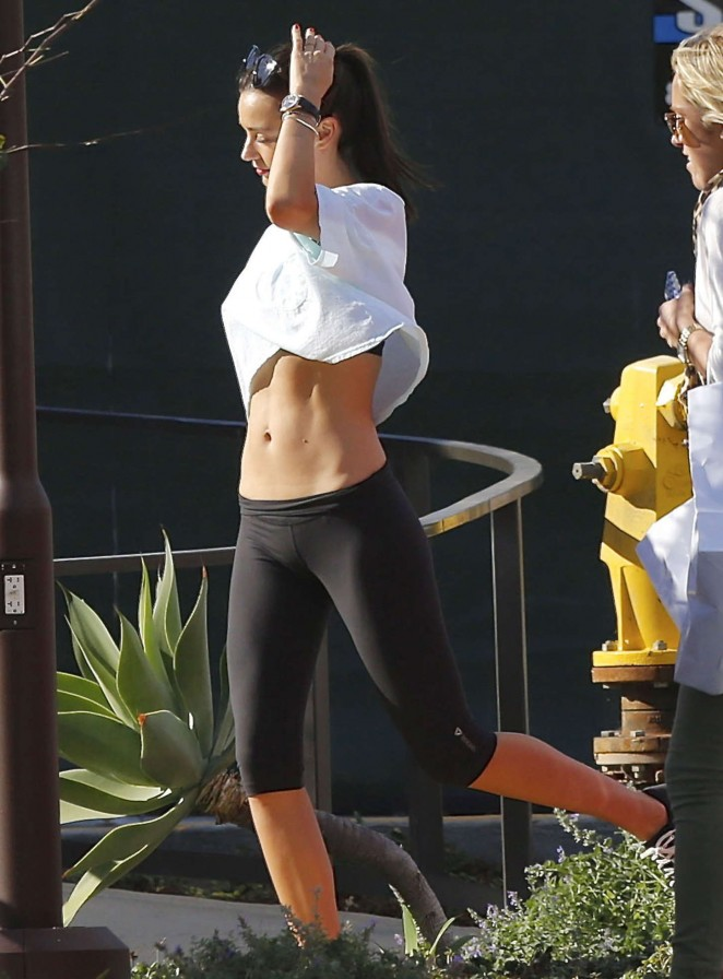 Miranda Kerr in Tights Leaving a yoga class in Malibu