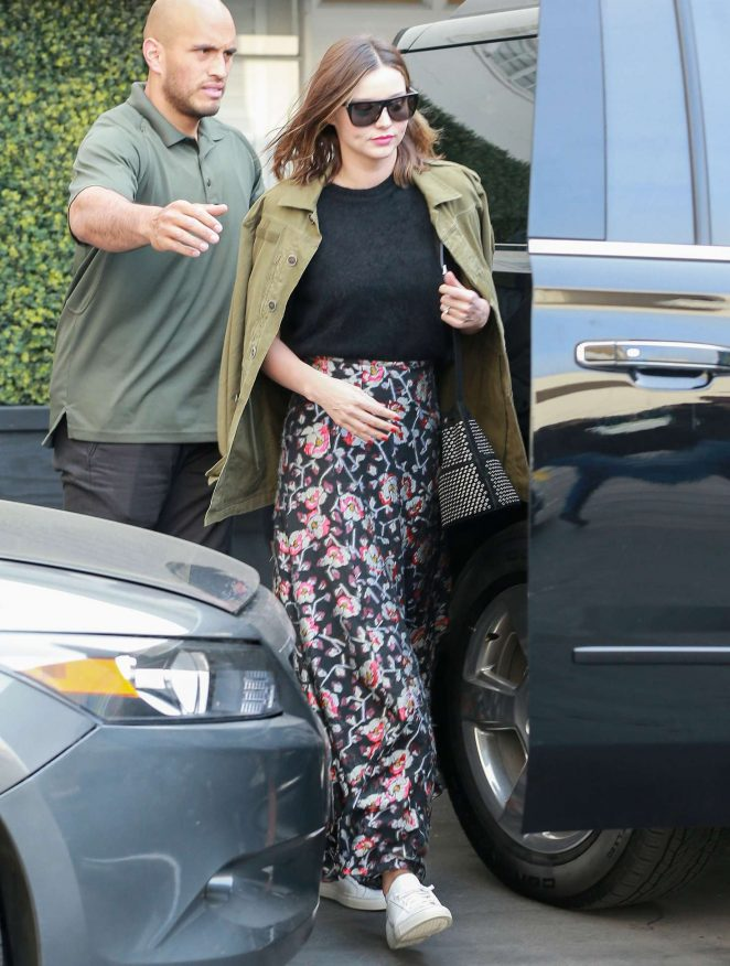 Miranda Kerr Leaving Epione Salon in Los Angeles