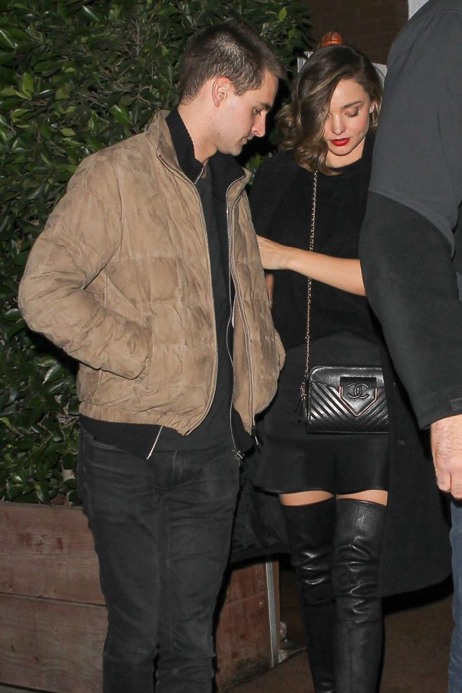 Miranda Kerr - Leaving Giorgio Baldi Restaurant in Santa Monica