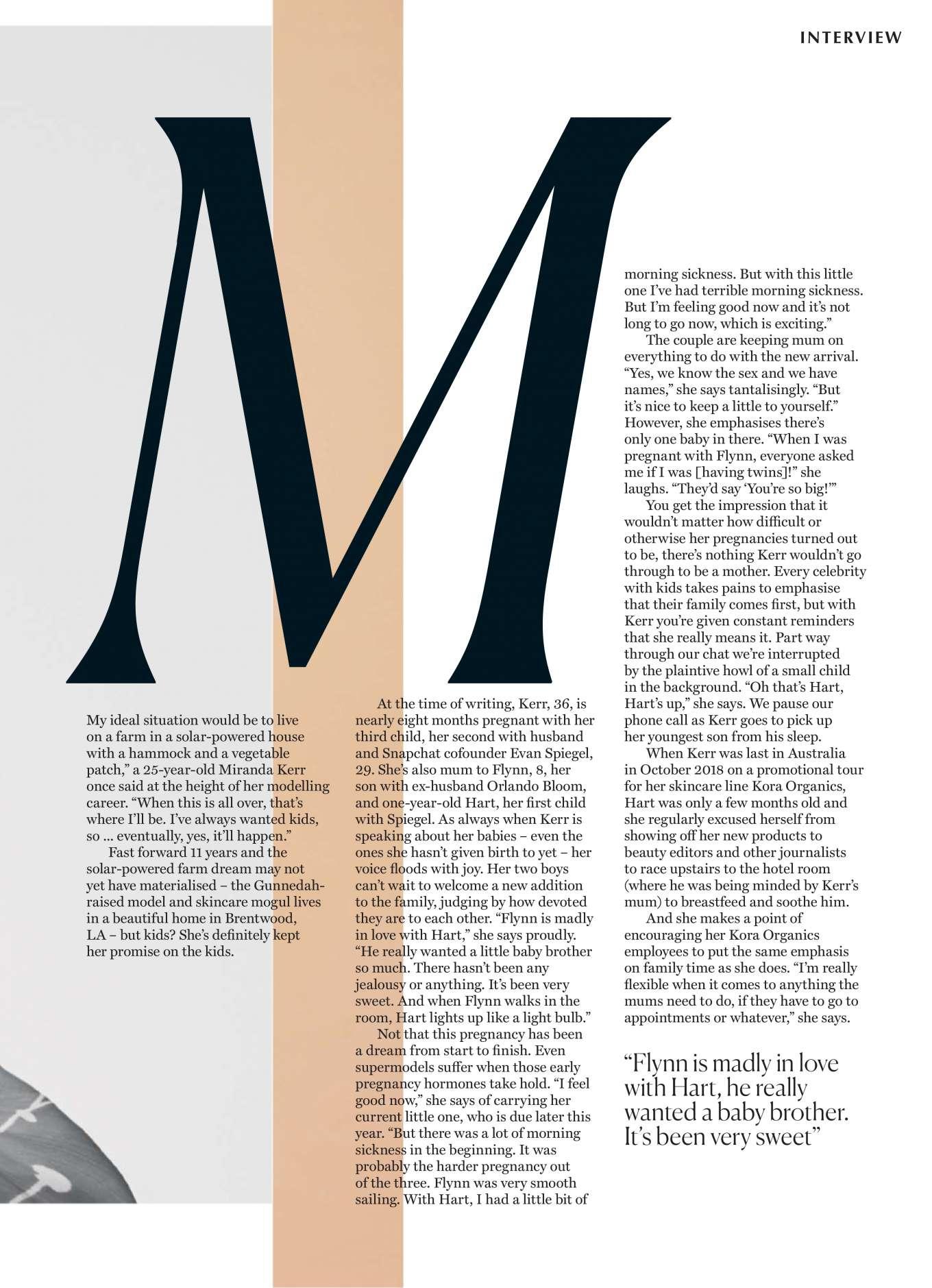 Miranda Kerr 2019 : Miranda Kerr – Marie Claire Australia 2019-06