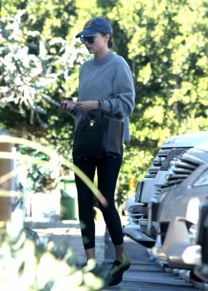 Miranda Kerr in Leggings out in Malibu