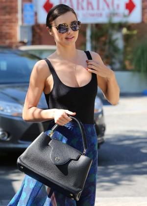 Miranda Kerr in Long Skirt Out in Santa Monica