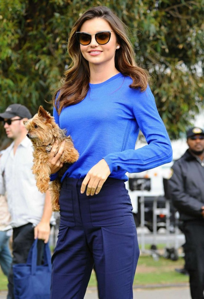 Miranda Kerr - Shooting a Commercial in Santa Monica