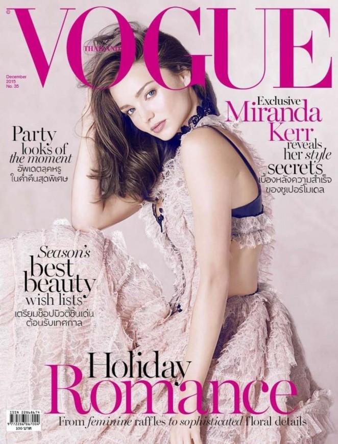 Miranda Kerr - Vogue Thailand Cover (December 2015)