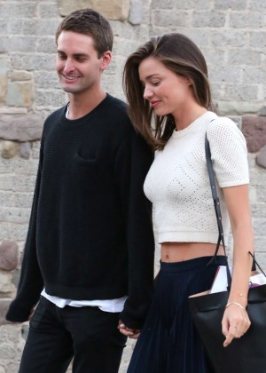 Miranda Kerr with Evan Spiegel Out in Malibu
