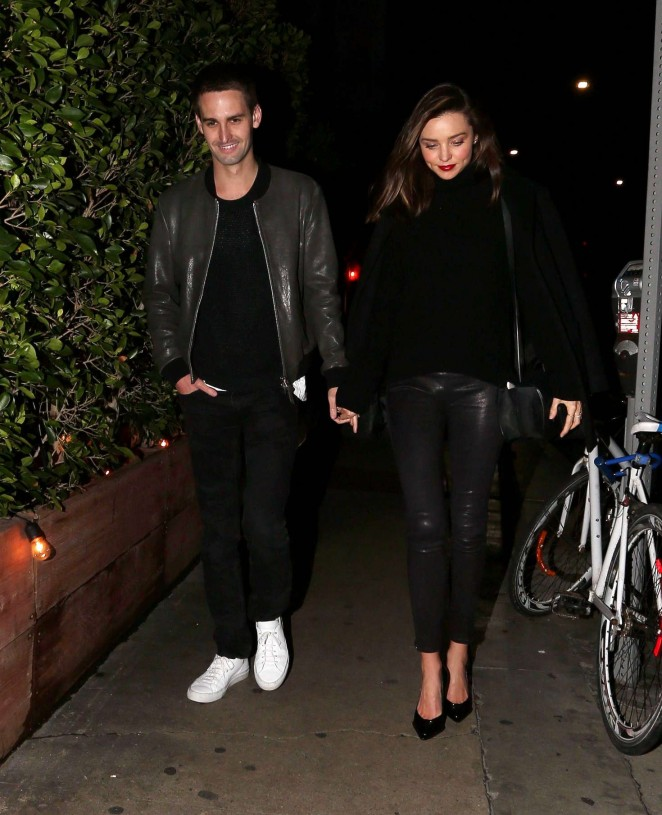 Miranda Kerr with her boyfriend out in Beverly Hills