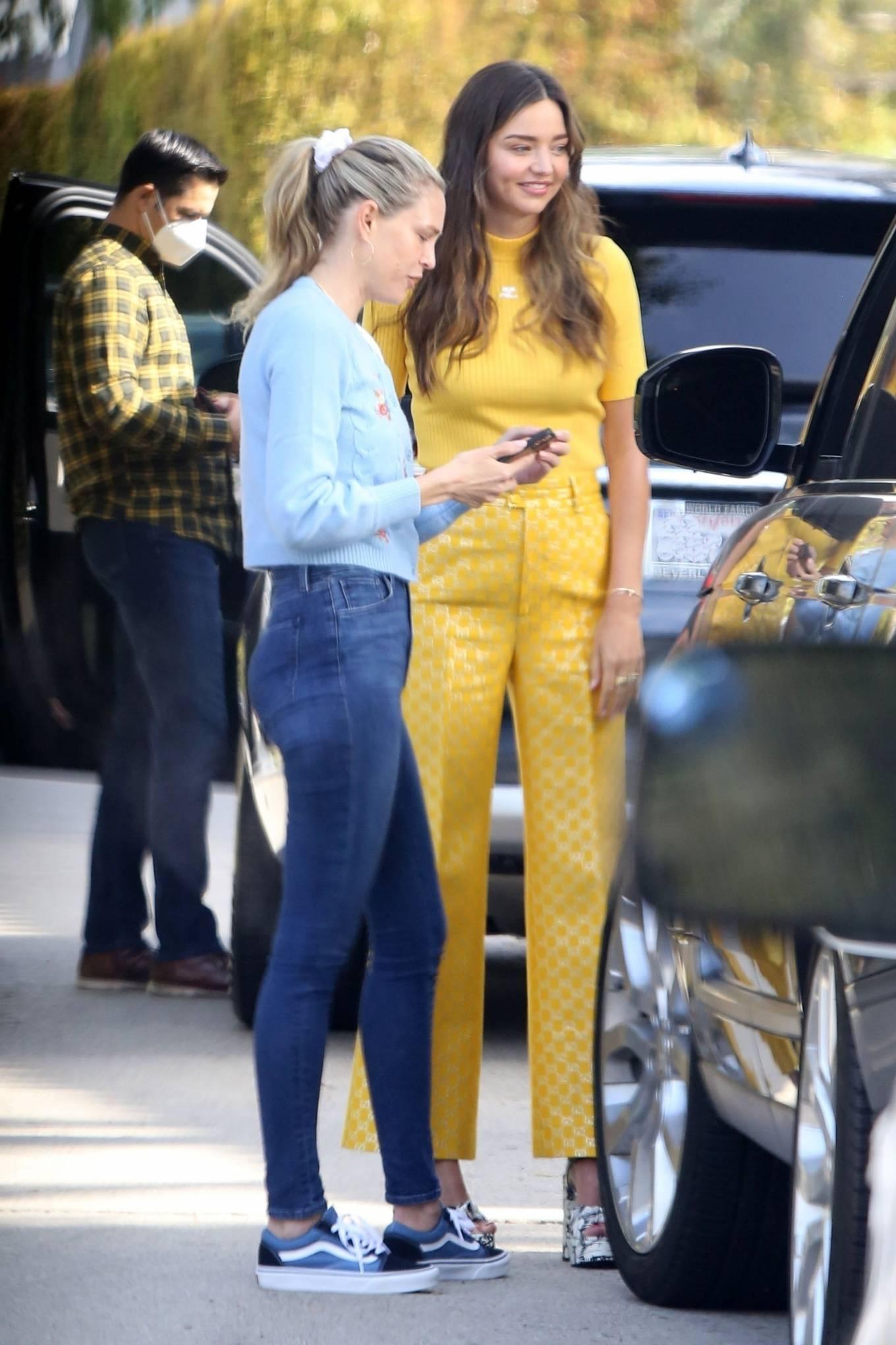 Miranda Kerr 2021 : Miranda Kerr – With Kate Hudson and Sara Foster – KORA Organics products presentation in Los Angeles-05