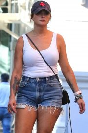 Miranda Lambert in Denim Shorts - Out in New York City