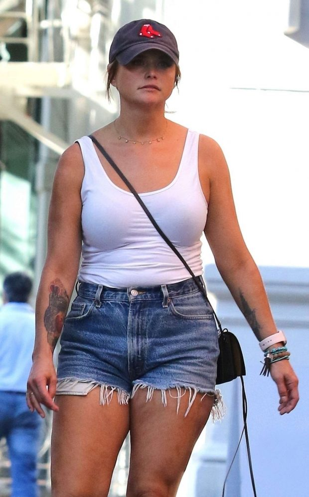Miranda Lambert in Denim Shorts - Out in New York City
