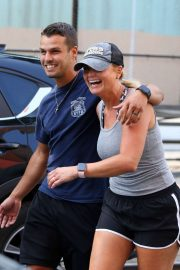 Miranda Lambert in Shorts - Out for a stroll in NYC