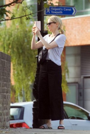 Mircea Monroe - Out for a stroll in London